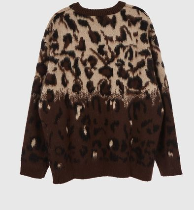 Raucohouse Sweaters Leopard Patterns Unisex Street Style Collaboration 13