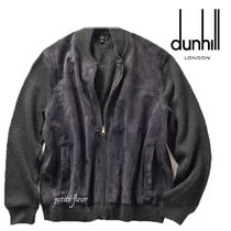 Dunhill Short Wool Suede Blended Fabrics Street Style Plain