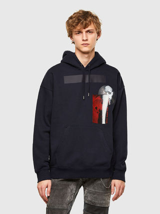 DIESEL Hoodies Pullovers Unisex Blended Fabrics Street Style Long Sleeves 7