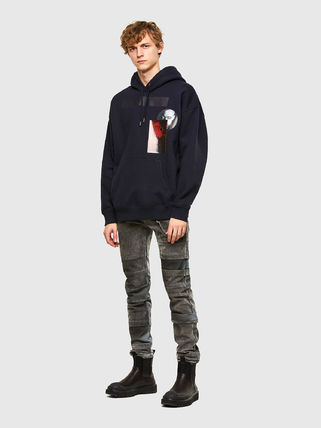 DIESEL Hoodies Pullovers Unisex Blended Fabrics Street Style Long Sleeves 9