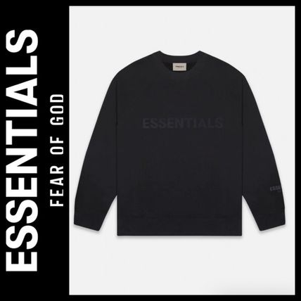 ESSENTIEL ANTWERP Sweatshirts Street Style U-Neck Long Sleeves Logo Sweatshirts