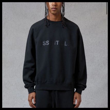 ESSENTIEL ANTWERP Sweatshirts Street Style U-Neck Long Sleeves Logo Sweatshirts 2
