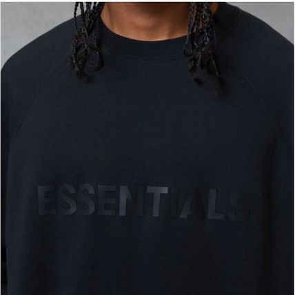 ESSENTIEL ANTWERP Sweatshirts Street Style U-Neck Long Sleeves Logo Sweatshirts 4