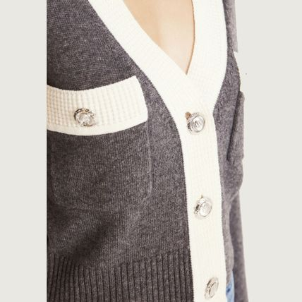 Casual Style Wool Cashmere Long Sleeves Plain Medium