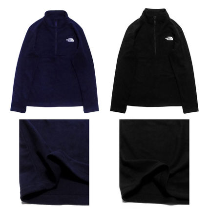 THE NORTH FACE Pullovers Unisex Long Sleeves Plain Logo Outdoor Tops