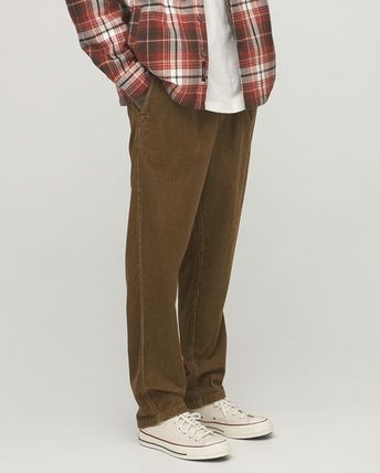 THE NORTH FACE Tapered Pants Corduroy Street Style Cotton Logo
