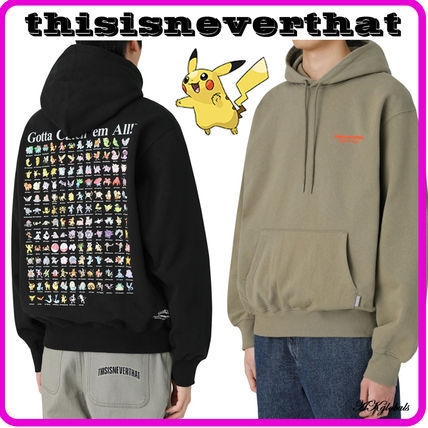 thisisneverthat Hoodies Pullovers Unisex Street Style Collaboration Long Sleeves