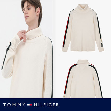 Tommy Hilfiger Sweatshirts Street Style Long Sleeves Plain Cotton Logo Sweatshirts
