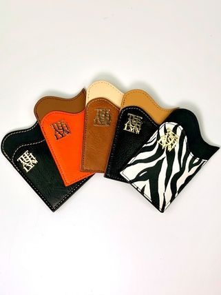 Faux Fur PVC Clothing Small Wallet Logo Card Holders
