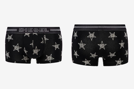 DIESEL Star Street Style Plain Cotton Co-ord Logo Boxer Briefs