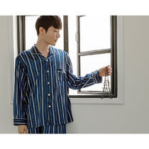 EVENIE Stripes Unisex Street Style Oversized Co-ord Front Button