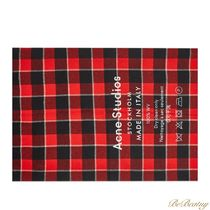 Ance Studios Other Plaid Patterns Unisex Wool Street Style Logo