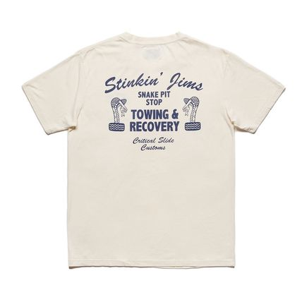 Pullovers Street Style Cotton Short Sleeves Surf Style
