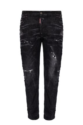 D SQUARED2 More Jeans Denim Blended Fabrics Street Style Plain Leather Cotton Logo 2