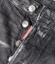 D SQUARED2 More Jeans Denim Blended Fabrics Street Style Plain Leather Cotton Logo 9