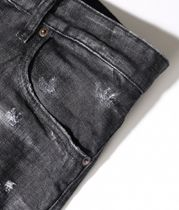 D SQUARED2 More Jeans Denim Blended Fabrics Street Style Plain Leather Cotton Logo 10