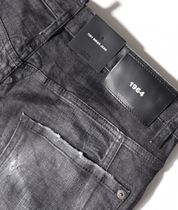 D SQUARED2 More Jeans Denim Blended Fabrics Street Style Plain Leather Cotton Logo 11