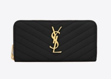 Monogram Leather Logo Long Wallets