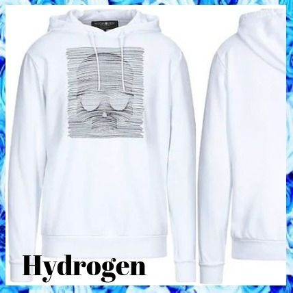 Logo Pullovers Long Sleeves Cotton Hoodies