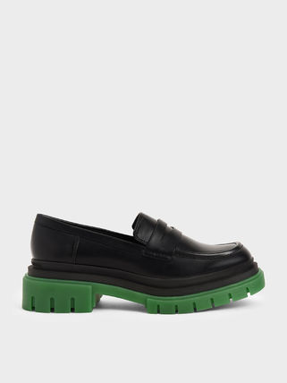 Charles&Keith Square Toe Casual Style Plain Office Style