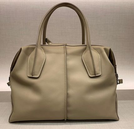 Casual Style Blended Fabrics 2WAY Plain Leather Office Style