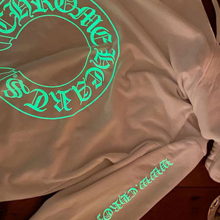 CHROME HEARTS Hoodies Pullovers Unisex Sweat Street Style Long Sleeves Cotton Logo 2