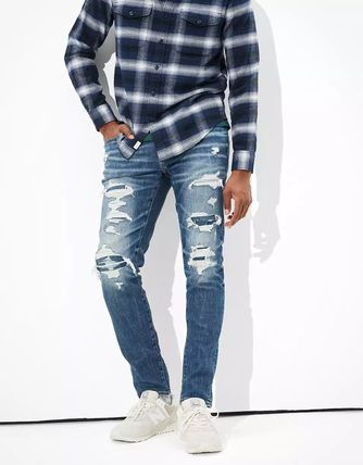 American Eagle Outfitters Street Style Plain Jeans