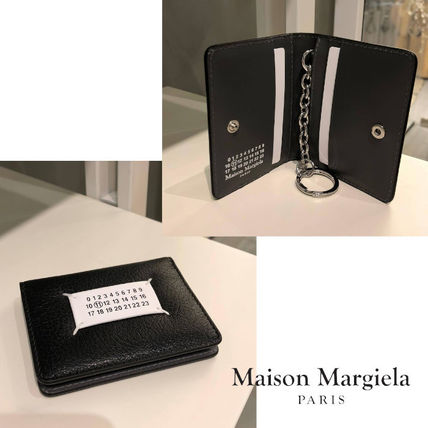 Maison Margiela Unisex Street Style Plain Leather Folding Wallet Logo