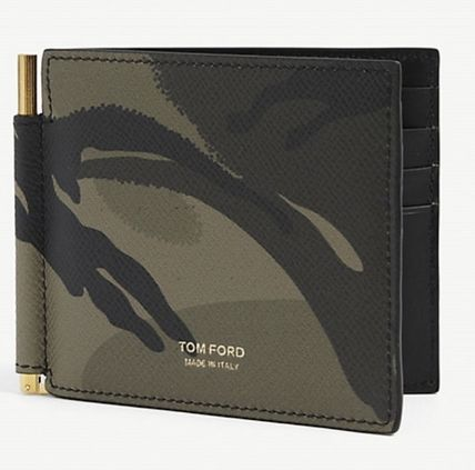 Camouflage Leather Money Clip Card Holders