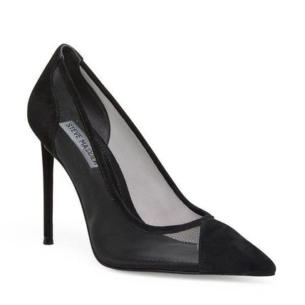 Steve Madden Formal Style  Casual Style Blended Fabrics Pin Heels