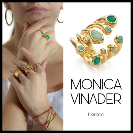 Monica Vinader Casual Style Party Style Silver With Jewels Elegant Style