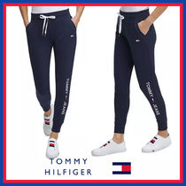 Tommy Hilfiger Casual Style Unisex Street Style Plain Cotton Long