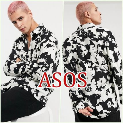 ASOS Shirts Other Plaid Patterns Street Style Long Sleeves Cotton Shirts