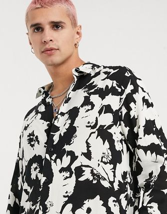 ASOS Shirts Other Plaid Patterns Street Style Long Sleeves Cotton Shirts 2