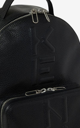 KENZO Unisex Plain Logo Backpacks
