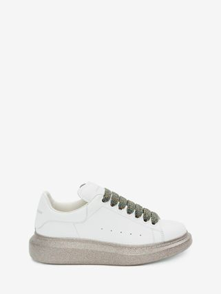 alexander mcqueen Logo Casual Style Leather Street Style Low-Top Sneakers