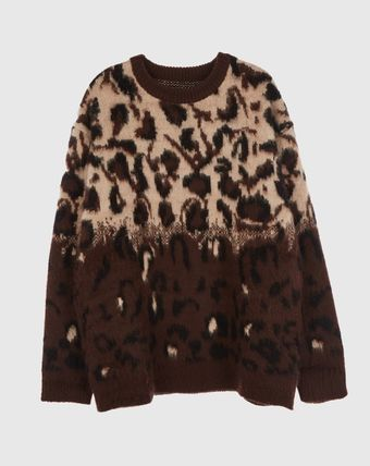 Raucohouse Sweaters Unisex Street Style Long Sleeves Oversized Sweaters 2