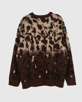 Raucohouse Sweaters Unisex Street Style Long Sleeves Oversized Sweaters 3