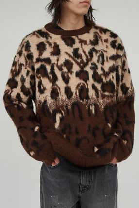 Raucohouse Sweaters Unisex Street Style Long Sleeves Oversized Sweaters 4