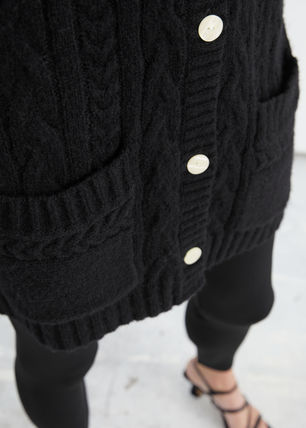 & Other Stories Cable Knit Casual Style Wool Long Sleeves Plain Medium