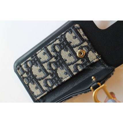 Christian Dior Leather Logo Smart Phone Cases