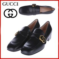 GUCCI GG Marmont Leather Loafer With DoubleG