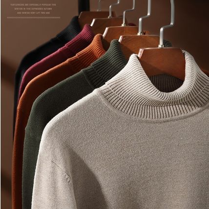 Vests & Gillets Cable Knit Pullovers Unisex Street Style Long Sleeves Plain