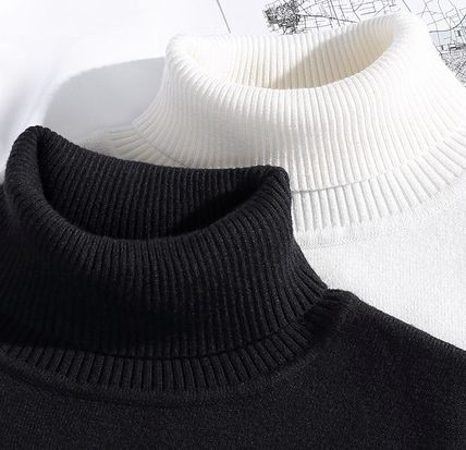 Vests & Gillets Cable Knit Pullovers Unisex Street Style Long Sleeves Plain 13