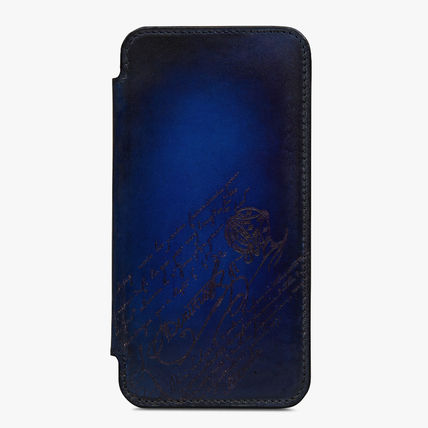 Berluti Leather Logo Smart Phone Cases
