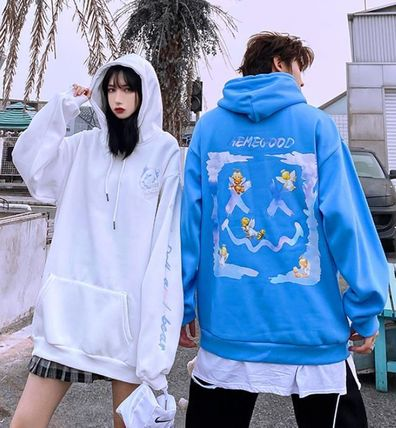 Hoodies Unisex Street Style Long Sleeves Cotton Oversized 2