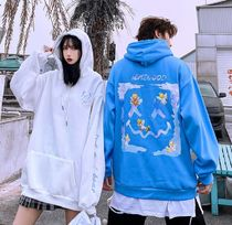 Hoodies Unisex Street Style Long Sleeves Cotton Oversized 6