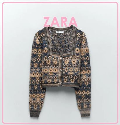 ZARA Long Sleeves Medium V-neck & Crew neck