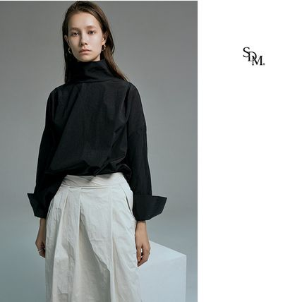 Casual Style Nylon Long Sleeves Plain Party Style
