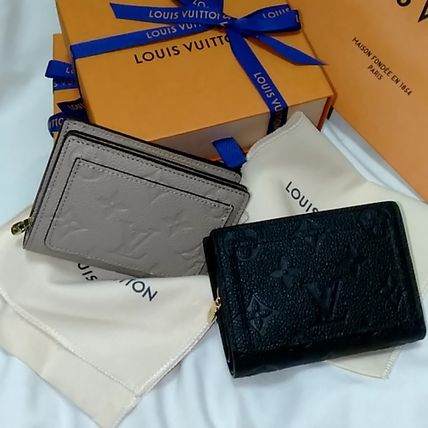 Louis Vuitton MONOGRAM EMPREINTE Folding Wallet Small Wallet Logo Monogram Folding Wallets